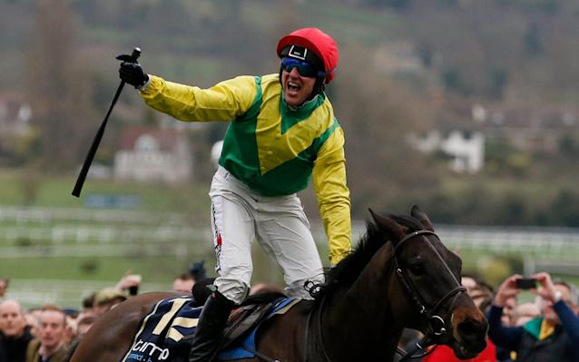 <span>Robbie Power punches the air aboard Sizing John</span> <span>Credit: Reuters </span>