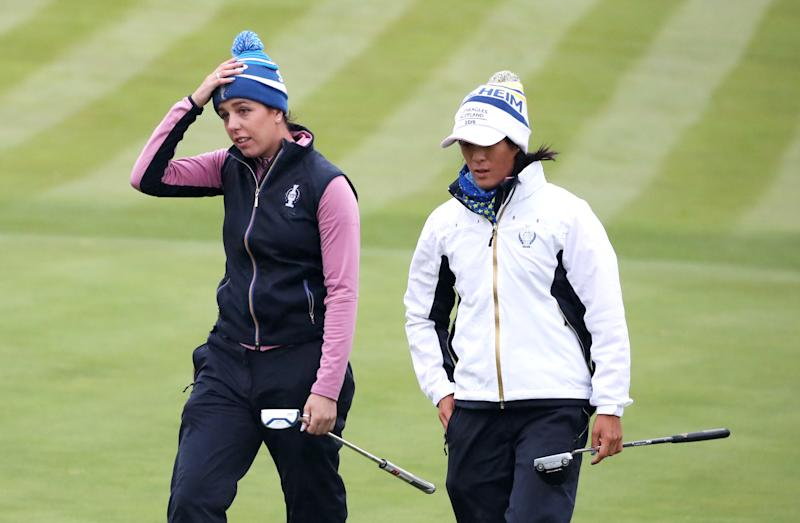Georgia Hall and Celine Boutier grabbed a vital comeback win for Europe in the Solheim Cup at Gleneagles