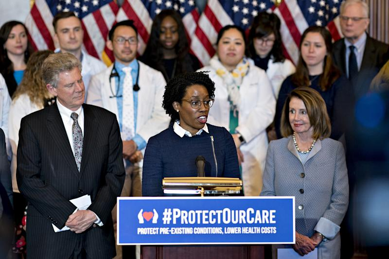 Representative Lauren Underwood, a Democrat from Illinois, speaks during a news conference to unveiling healthcare legislation at the U.S. Capitol in Washington, D.C. on March 26, 2019. (Photo: Andrew Harrer/Bloomberg via Getty Images)