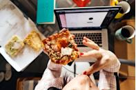 "<p>Another essential part of eating mindfully is eliminating all distractions. In other words: no watching Netflix, no scrolling through social media, no reading a book, and no working. </p><p>""When you are eating, get rid of everything else so you can focus solely on your food,"" Dr. Seti says. ""This allows you to be mentally present at mealtime and get the most out of your food, both physically and emotionally."" </p><p>Ronga adds that this is important what first starting mindful eating. But, ""as you get better at it, you simply need to take inventory of distractions so you are aware of them."" </p>"