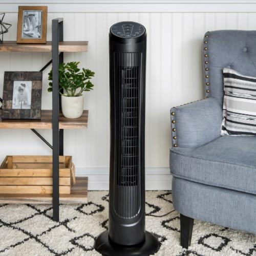 Best Choice Products Portable Quiet Oscillating Standing Floor Tower Fan. (Photo: Walmart)