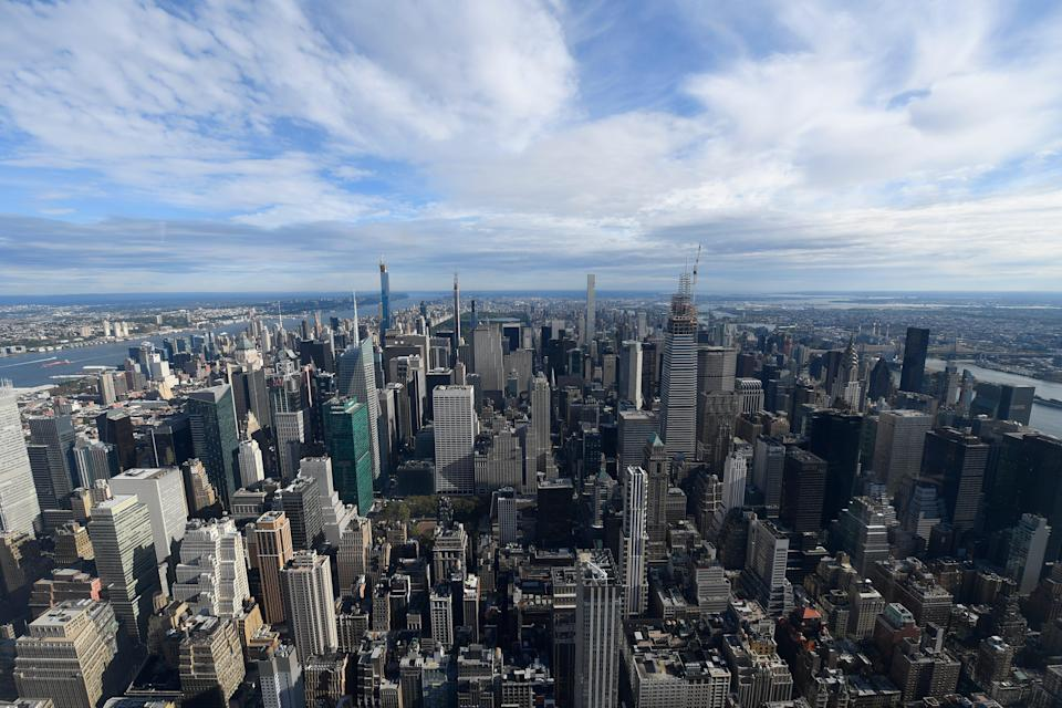 The northern New York City skyline can be seen from the Empire State Building on Oct. 10, 2019.