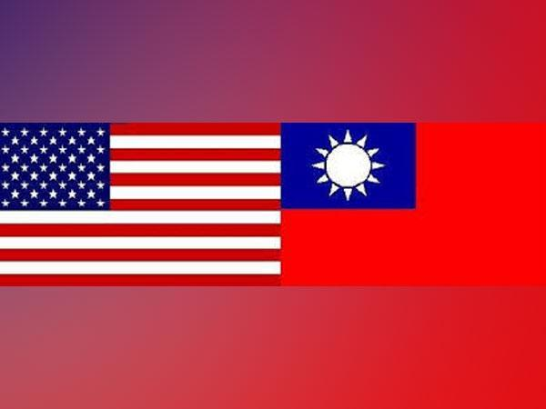 US and Taiwan flags