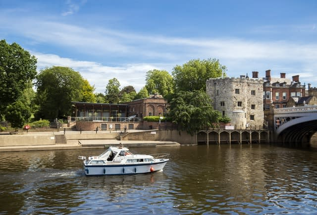 A boat on the River Ouse