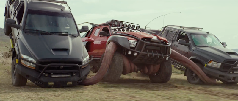 First Monster Trucks Trailer Drives In