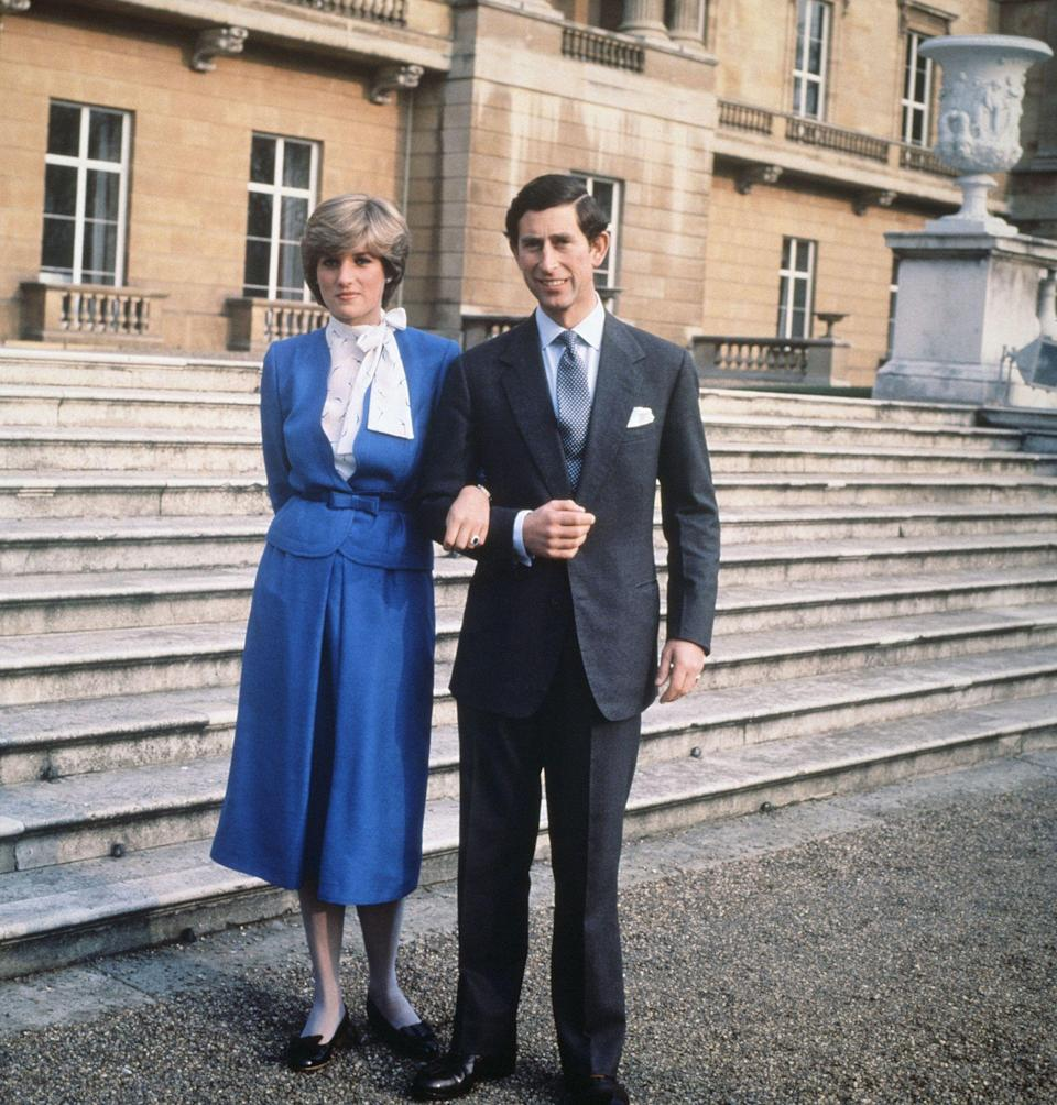 <p>Prince Charles and Diana Spencer announcing their engagement in February 1981</p>