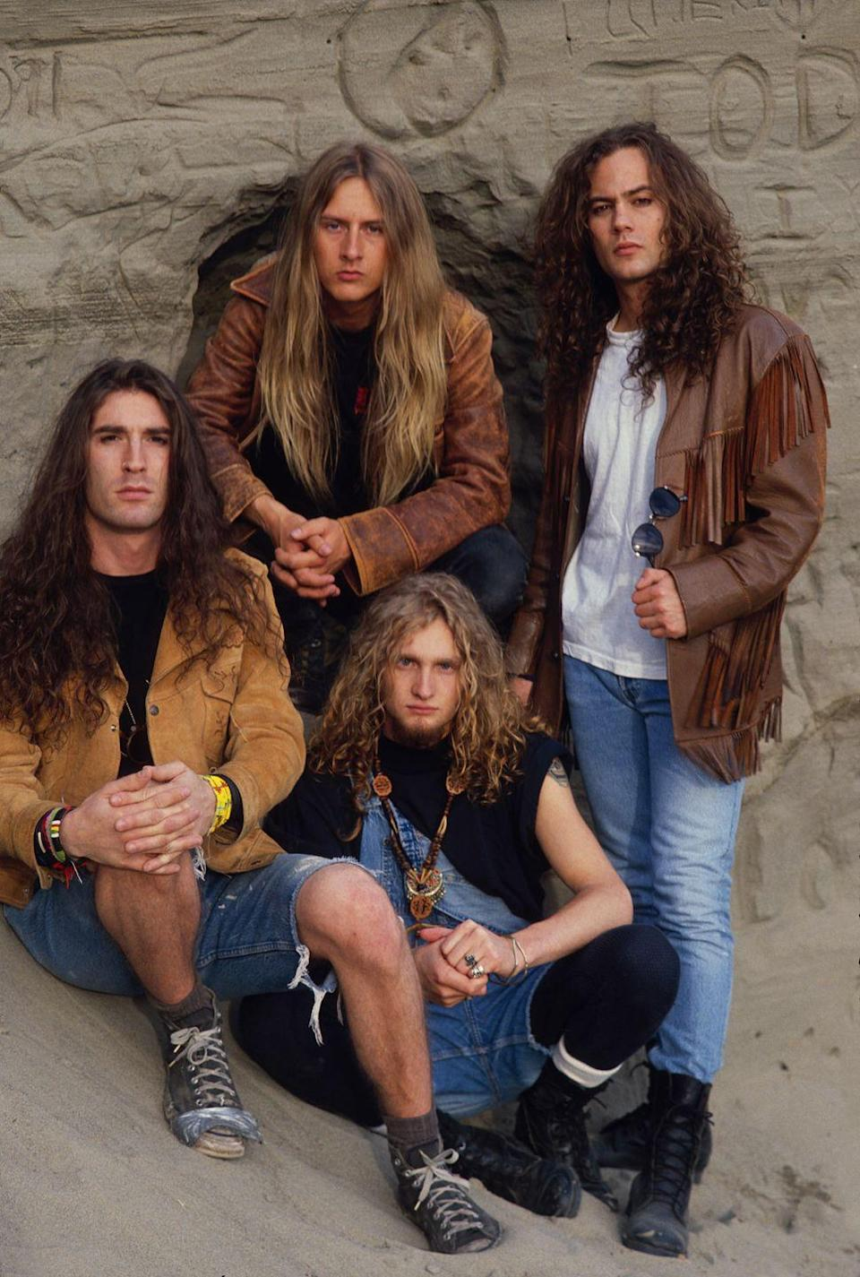 <p>Alice in Chains photographed in 1990.</p>