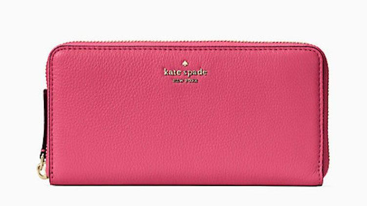Add a pop of color to your wardrobe with this ultra-bright wallet.