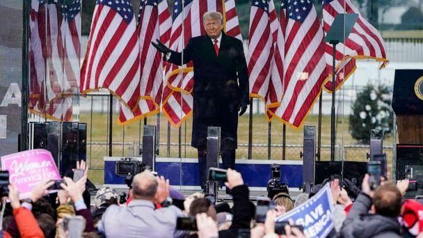 PHOTO: President Donald Trump arrives to speak at a rally Wednesday, Jan. 6, 2021, in Washington D.C.   (Jacquelyn Martin/AP)