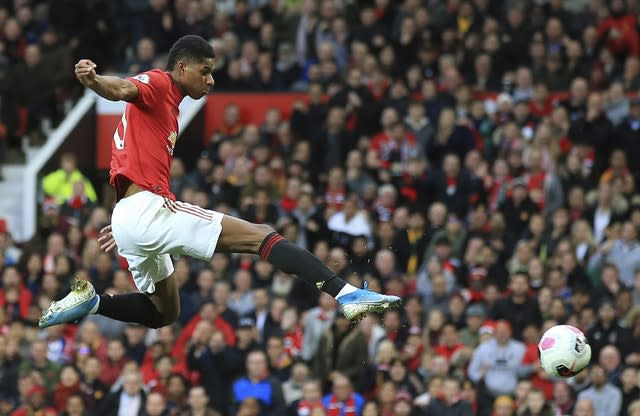 Manchester United were on course for a memorable win thanks to Marcus Rashford's opener (Jon Super/AP)
