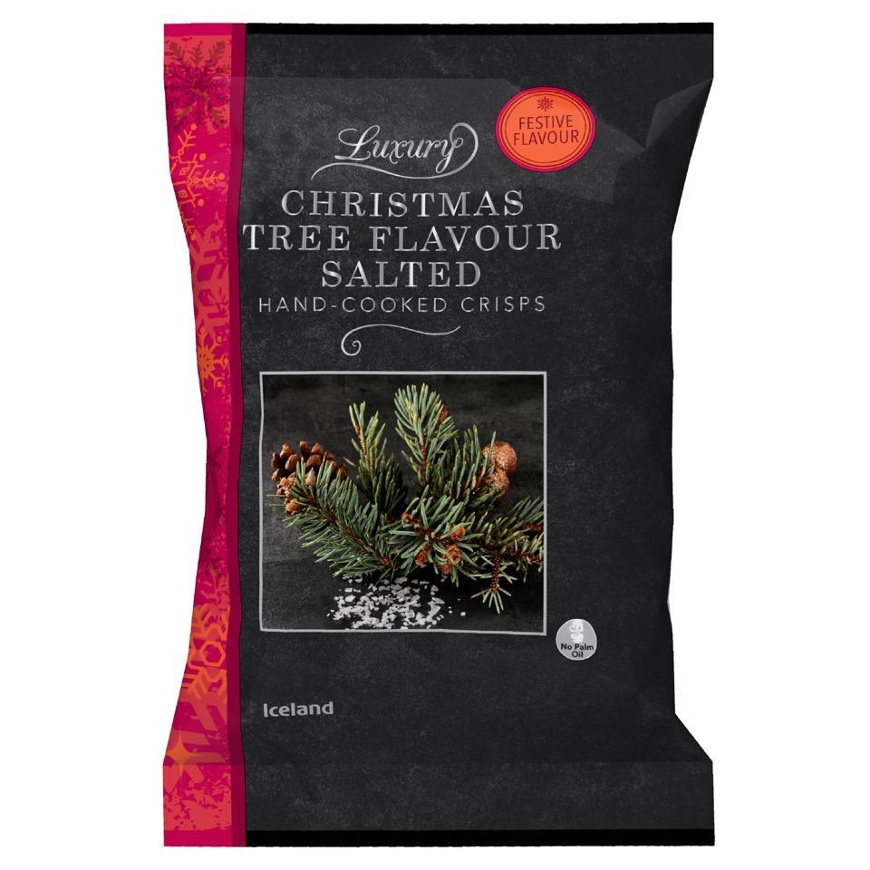Will you be trying out Iceland's Christmas tree flavoured crisps this year? [Photo: Iceland]