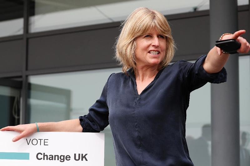 Rachel Johnson, candidate for the new pro-EU political party, Change UK, is the sister of former foreign secretary and leading Brexiteer Boris Johnson (AFP Photo/Adrian DENNIS)