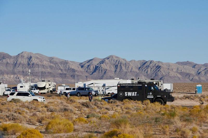 The Alienstock command post on the outskirts of Rachel. | Bridget Bennett/Getty Images