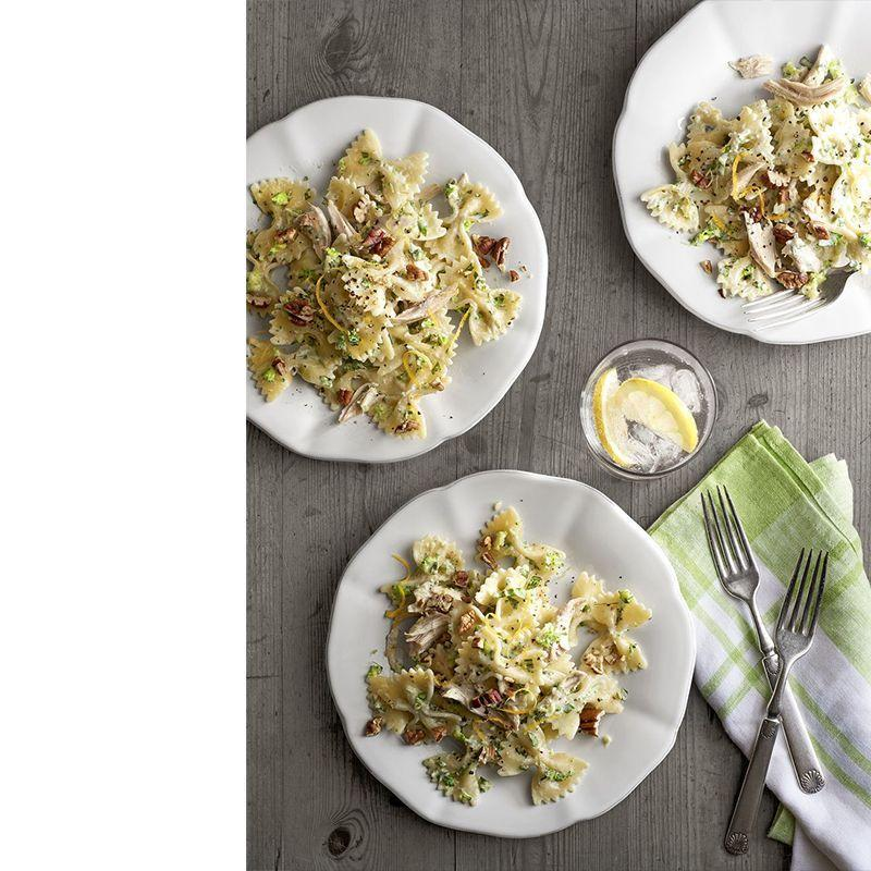 """<p>It's hard to truly mess up pasta, which is why we think this dish is perfect for those who aren't too skilled in the kitchen. The unusual addition of toasted pecans adds a surprising but delicious twist to this recipe.<br></p><p><em><a href=""""https://www.womansday.com/food-recipes/food-drinks/recipes/a40364/creamy-chicken-broccoli-pesto-bow-ties-recipe-clx0215/"""" rel=""""nofollow noopener"""" target=""""_blank"""" data-ylk=""""slk:Get the recipe for Creamy Chicken-and-Broccoli Pesto Bow Ties."""" class=""""link rapid-noclick-resp"""">Get the recipe for Creamy Chicken-and-Broccoli Pesto Bow Ties. </a></em></p>"""