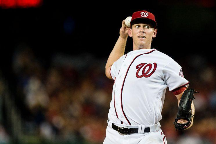When Stephen Strasburg is right, he's still unfair. He's making changes to his arsenal in 2017. (Photo by Patrick McDermott/Washington Nationals/Getty Images)
