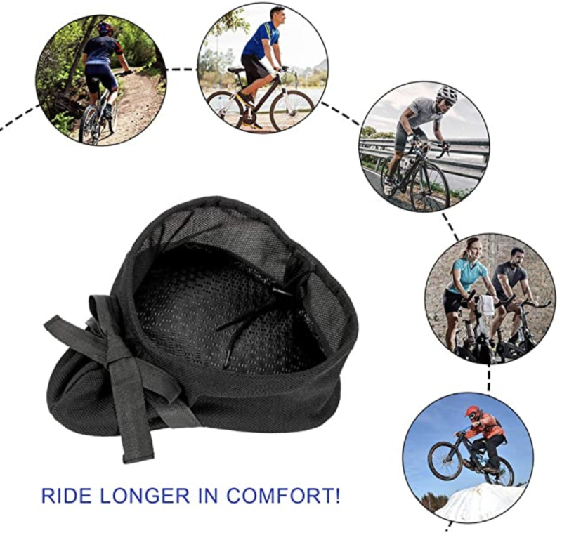 Bike seat gel soft pad (with waterproof cover), S$34.88 (was S$38.47). PHOTO: Amazon