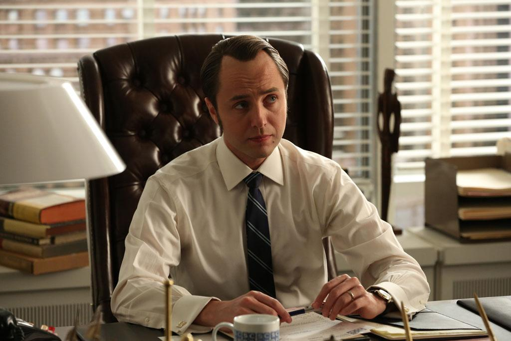 "Pete Campbell (Vincent Kartheiser) in the ""Mad Men"" episode, ""The Better Half."""