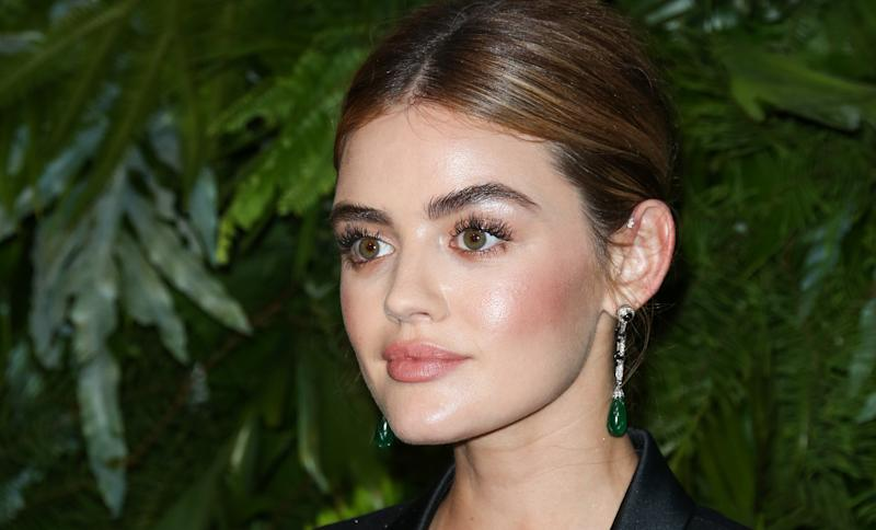 Lucy Hale attends an event on June 12.She talks about sexual assault in Haute Living magazine's latest issue.