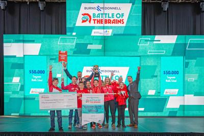 Organizers of Kansas City's most beloved K-12 STEM competition presented Tonganoxie Middle School with the grand prize in Burns & McDonnell Battle of the Brains.