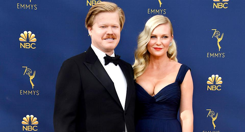 Jesse Plemons and Kirsten Dunst attend the 70th Emmy Awards at Microsoft Theater on Sept. 17, 2018, in Los Angeles. (Photo: Frazer Harrison/Getty Images)