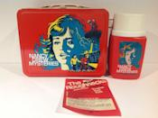 <p>Nancy Drew books have been popular since the 1930s. The female super sleuth has always attracted devoted readers and collectors. The books still hold some value, especially original editions. If you've parted with your collection, don't worry. You may still have a hard-to-find item like this lunchbox and thermos from the late '70s, which is surprisingly valuable.</p><p><strong>What it's worth: </strong>$30-$280</p>