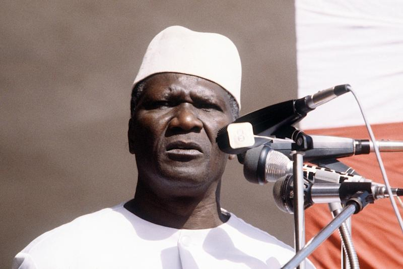 "In his autobiography Alpha Conde describes how he first supported the ""revolutionary"" Ahmed Sekou Toure, Guinea's first president after independence from France in 1958, pictured in 1984 (AFP Photo/)"