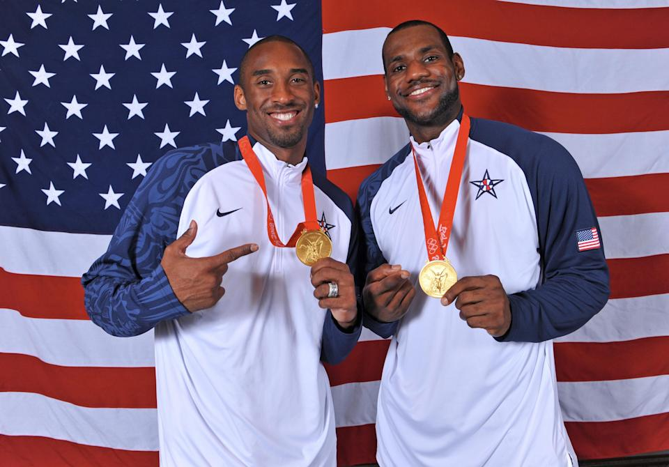 Great players win games, and the Redeem Team had two of the greatest in Kobe Bryant and LeBron James. (Getty Images)