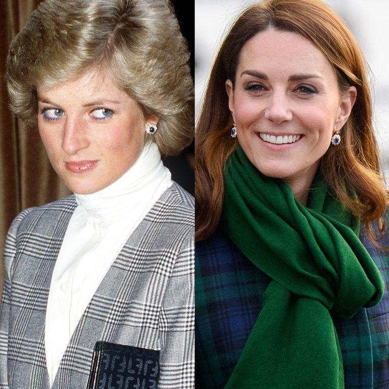 """<p>These earrings were <a href=""""https://www.usmagazine.com/stylish/pictures/princess-dianas-jewelry-worn-by-kate-middleton-meghan-markle-pics/tk-4-627/"""" rel=""""nofollow noopener"""" target=""""_blank"""" data-ylk=""""slk:originally a wedding gift"""" class=""""link rapid-noclick-resp"""">originally a wedding gift</a> to Princess Diana, part of a suite of jewels given by Crown Prince Fahd of Saudi Arabia. William gave the earrings to Kate after he proposed in 2010, and the Duchess updated the design into a drop style. They've become one of <a href=""""https://www.townandcountrymag.com/style/jewelry-and-watches/a26287274/kate-middleton-princess-diana-pearl-earrings-bafta-awards-2019/"""" rel=""""nofollow noopener"""" target=""""_blank"""" data-ylk=""""slk:Kate's signature earrings"""" class=""""link rapid-noclick-resp"""">Kate's signature earrings</a> through the years.</p>"""