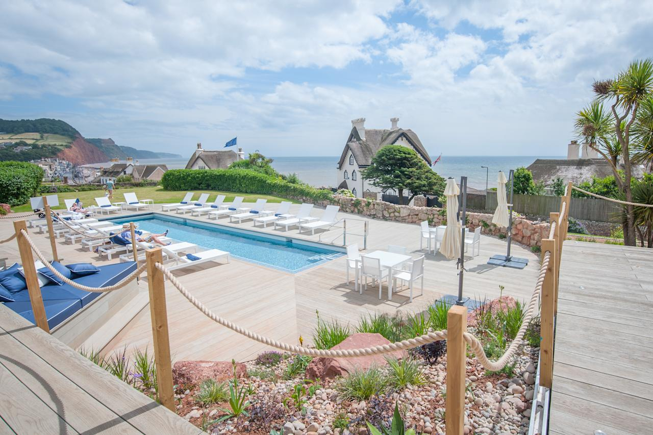 <p>How about a Miami-style pool, overlooking sensational Jurassic coast views? The Sidmouth Harbour Hotel & Spa has recently been refurbished with 22 slick new rooms, a bar and this chic outdoor pool, which has a lovely sundeck for warmer days. B&B rooms from £125 per night. <em>[Photo: Sidmouth Harbour Hotel & Spa]</em> </p>