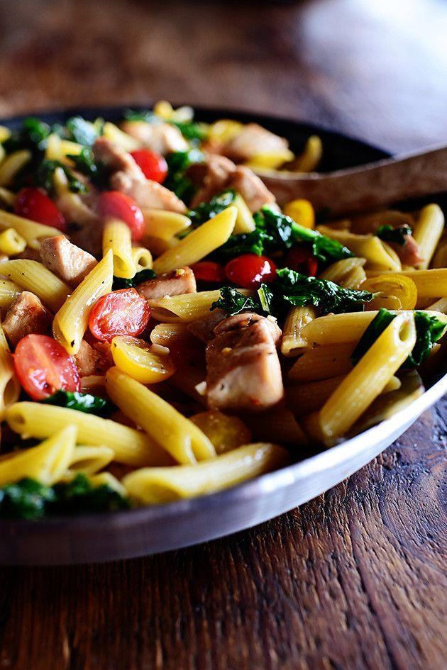"""<p>Trust us: Each bite of this chicken kale pasta is incredibly satisfying—and all of those different colors will help entice your kids to clear their plates!</p><p><strong><a href=""""https://thepioneerwoman.com/cooking/chicken-kale-pasta/"""" rel=""""nofollow noopener"""" target=""""_blank"""" data-ylk=""""slk:Get the recipe"""" class=""""link rapid-noclick-resp"""">Get the recipe</a>.</strong></p>"""