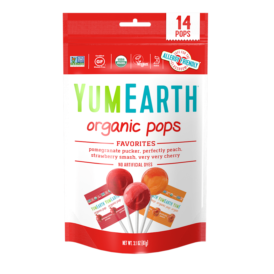 <p>This brand's organic, all-natural candy game is strong, including these fun <span>YumEarth Organic Assorted Flavor Lollipops</span> ($3). Not only is YumEarth dedicated to using high-quality ingredients, but they also have their packaging made in factories that are powered by wind-generated electricity. Pretty cool, huh?</p>