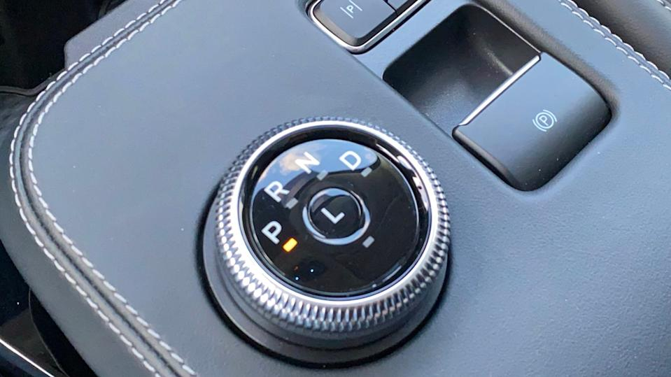Gear selector in 2021 Ford Mustang Mach-E