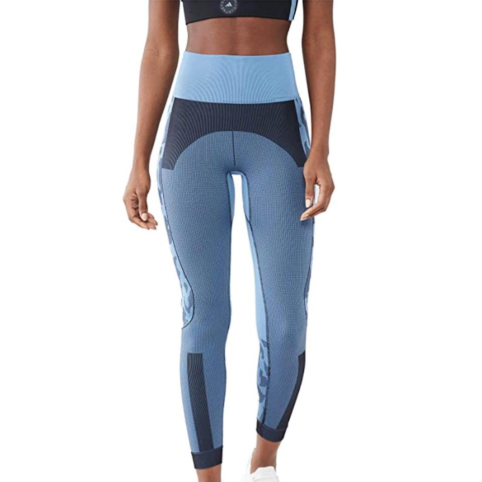 """<p><strong>adidas by Stella McCartney</strong></p><p>amazon.com</p><p><strong>$120.00</strong></p><p><a href=""""https://www.amazon.com/dp/B08X2HK7B4?tag=syn-yahoo-20&ascsubtag=%5Bartid%7C2142.g.36448024%5Bsrc%7Cyahoo-us"""" rel=""""nofollow noopener"""" target=""""_blank"""" data-ylk=""""slk:Shop Now"""" class=""""link rapid-noclick-resp"""">Shop Now</a></p><p>Since 2004, Adidas and designer Stella McCartney have been churning out fashionable activewear, and these seamless high-waisted leggings are no exception. </p>"""