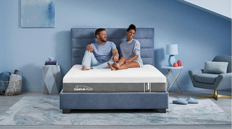 """<p><strong>Tempur Pedic</strong></p><p>tempurpedic.com</p><p><a href=""""https://go.redirectingat.com?id=74968X1596630&url=https%3A%2F%2Fwww.tempurpedic.com%2Fshop-mattresses%2Ftempur-cloud-mattress%2F&sref=https%3A%2F%2Fwww.bestproducts.com%2Flifestyle%2Fg37357856%2Flabor-day-sales-2021%2F"""" rel=""""nofollow noopener"""" target=""""_blank"""" data-ylk=""""slk:Shop Now"""" class=""""link rapid-noclick-resp"""">Shop Now</a></p><p><del>$1,999.00<br></del><strong>$1,399.30 (30% off)</strong></p><p>Drift off to dreamland on this body-molding TEMPUR-Cloud mattress. It has three supportive layers that hug your body all night long, no matter how you sleep. You're most likely going to love it, but if you don't, there's a 90-day sleep trial, so you'll have 3 months to decide. <del><br></del></p>"""