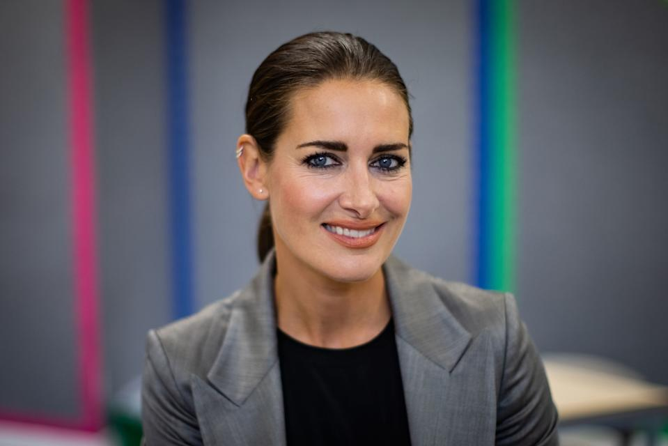 Kirsty Gallacher who has put her name behind the school safely opening as The Charles Dickens Primary School in London prepares to safely welcome back pupils. (Photo by Aaron Chown/PA Images via Getty Images)