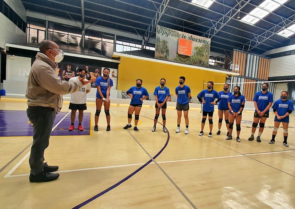 The bubble training of the Perlas Spikers ahead of the Premier Volleyball League (PVL) Open Conference. (Photo: Perlas Spikers/Facebook)