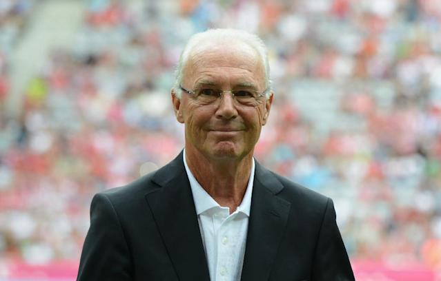 German football legend Franz Beckenbauer, 71, has denied any wrongdoing over the 2006 World Cup tournament (AFP Photo/CHRISTOF STACHE)