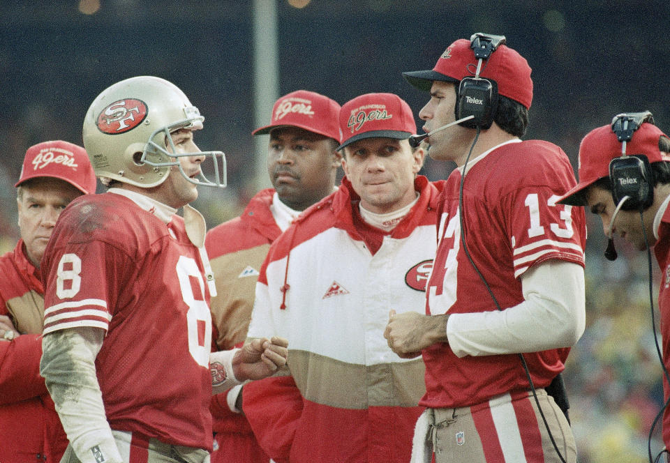 <p>Though both Montana and Steve Young are beloved by 49ers fans, it's easy to forget that the transition from one to the other was very awkward. Young played very well in place of the injured Montana in 1991 and 1992, proving worthy of the starting job. But when Montana came back healthy in the 1993 offseason, he expected to be given the starting job once again under center. The 49ers showed they were committed to Young as the future QB, so Montana demanded a trade. He was obliged when he was dealt to the Chiefs in 1993. </p>