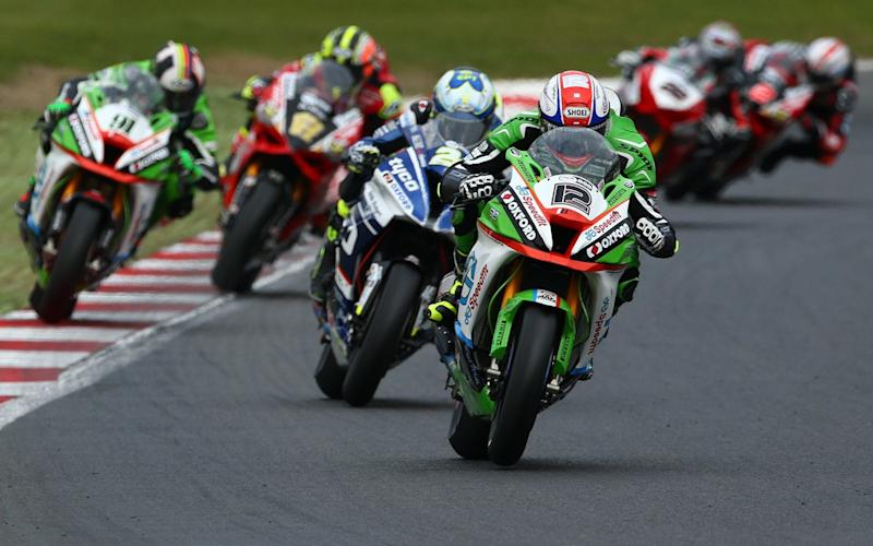 Luke Mossey leads last time out at Brands hatch hatch, where he took his maiden Superbike victory - Impact Images Photoqraphy.