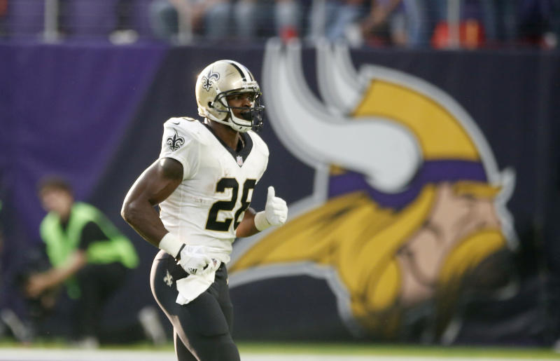 Adrian Peterson's first game with the Saints was against his former team, the Vikings. (AP)