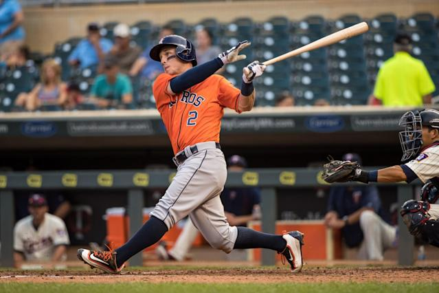 "Your 2016 Yahoo Sports Minor League Player of the year is Houston's <a class=""link rapid-noclick-resp"" href=""/mlb/players/10183/"" data-ylk=""slk:Alex Bregman"">Alex Bregman</a>. (Getty Images)"