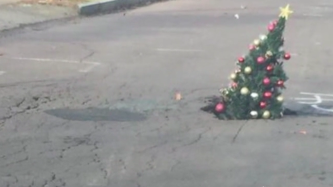 pothole christmas tree