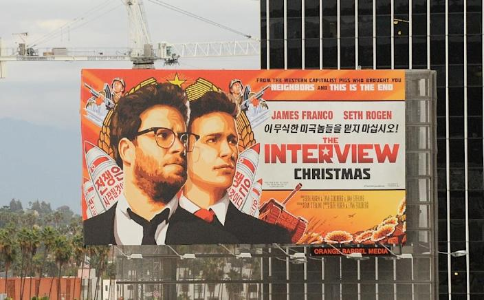 """""""The Interview"""", starring Seth Rogen and James Franco, is a comedy about a fictional CIA plot to assassinate North Korean leader Kim Jong-Un (AFP Photo/Michael Thurston)"""