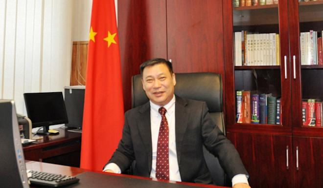 Lithuania's foreign ministry on Monday served a diplomatic note on Zhifei Shen, the Chinese ambassador in Vilnius. Photo: Handout