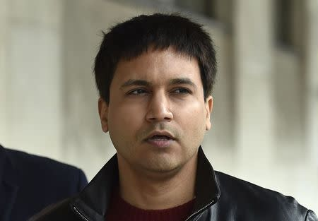 Navinder Sarao arrives at Westminster Magistrates' Court for an extradition hearing in London, Britain March 23, 2016. REUTERS/Toby Melville/File Photo
