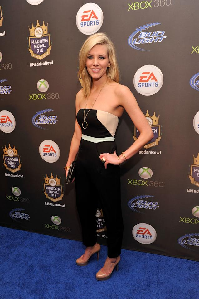 NEW ORLEANS, LA - JANUARY 31:  Sportscaster Charissa Thompson arrives at EA SPORTS Madden Bowl XIX at the Bud Light Hotel on January 31, 2013 in New Orleans, Louisiana.  (Photo by Stephen Lovekin/Getty Images for Bud Light)