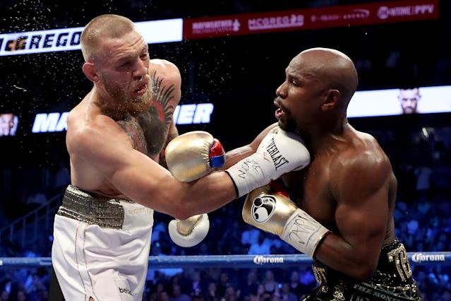 Shortly after Conor McGregor's win at UFC 246, Floyd Mayweather hinted at a rematch with the Irishman sometime this year on Instagram. (Christian Petersen/Getty Images)