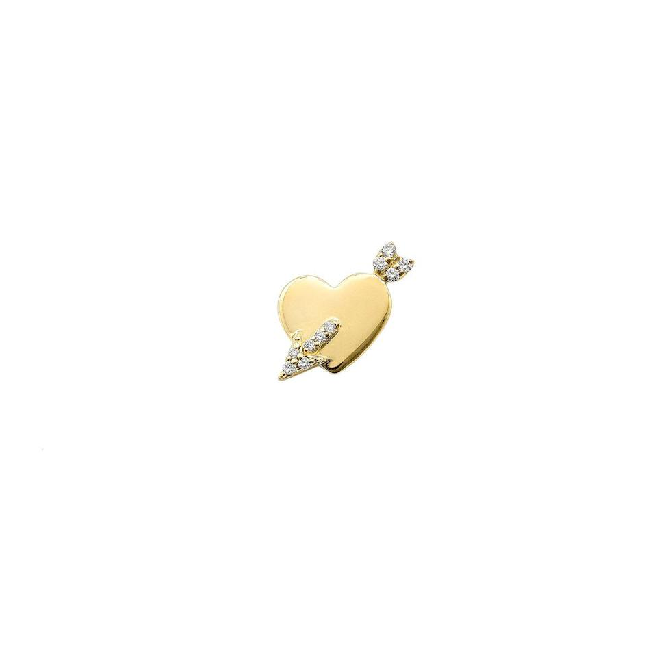 """<p><a class=""""link rapid-noclick-resp"""" href=""""https://www.robinsonpelham.com/jewellery/stud-club-cupid-heart/"""" rel=""""nofollow noopener"""" target=""""_blank"""" data-ylk=""""slk:SHOP NOW"""">SHOP NOW</a></p><p>This charming stud earring would look perfect as a single statement, or as part of a mismatched pair. </p><p>Gold and diamond stud earring, £285, <a href=""""https://www.robinsonpelham.com"""" rel=""""nofollow noopener"""" target=""""_blank"""" data-ylk=""""slk:Robinson Pelham"""" class=""""link rapid-noclick-resp"""">Robinson Pelham</a>.</p>"""
