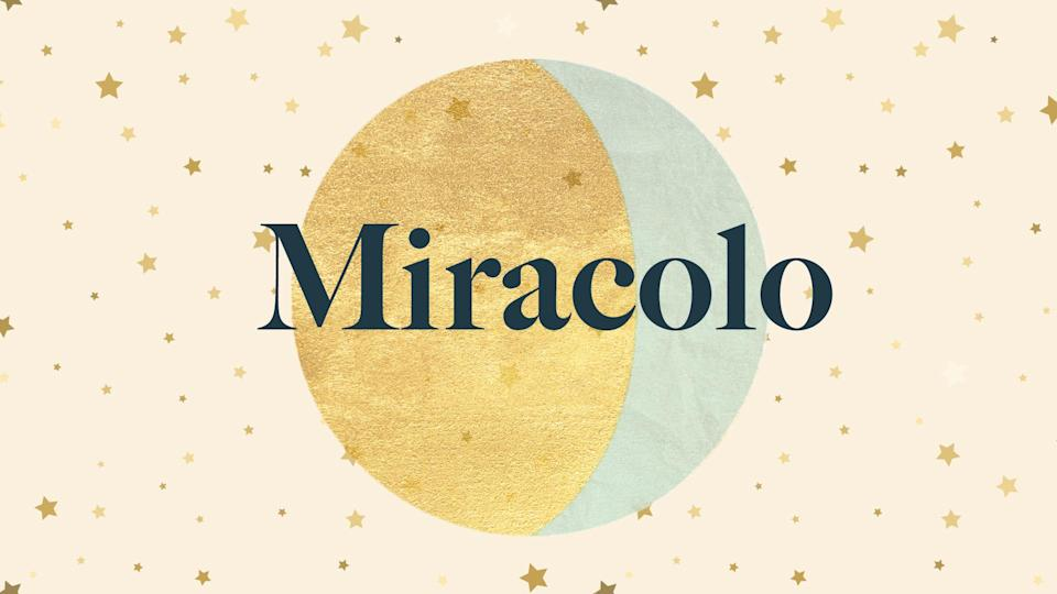 Baby names that mean miracle