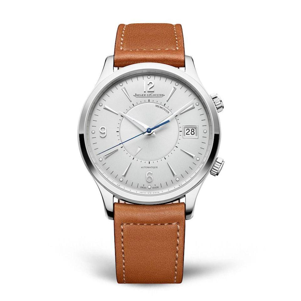 """<p>Master Control Memovox</p><p><a class=""""link rapid-noclick-resp"""" href=""""https://www.jaeger-lecoultre.com/eu/en/watches/master/master-memovox/4118420.html"""" rel=""""nofollow noopener"""" target=""""_blank"""" data-ylk=""""slk:SHOP"""">SHOP</a><br><br>There's something magical about a chiming wristwatch, doubly so if its made by Jaeger-LeCoultre, whose family of dress watches may be unparalleled. The first Memovox came out in the Fifties, one of the first generation of wristwatches to come with a chiming, vibrating alarm complication. The 2020 version has been slimmed down and tidied up, and (naturally) features a completely new movement. It's beautifully proportioned, extremely stylish and surprisingly loud. A modern classic, we're saying.</p><p>£10, 300; <a href=""""https://www.jaeger-lecoultre.com/eu/en/watches/master/master-memovox"""" rel=""""nofollow noopener"""" target=""""_blank"""" data-ylk=""""slk:jaeger-lecoultre.com"""" class=""""link rapid-noclick-resp"""">jaeger-lecoultre.com</a><br></p>"""